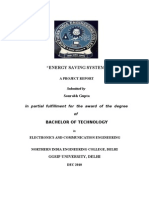 Energy Saving System - Final Report