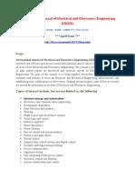 International Journal of Electrical and Electronics Engineering (IJEEE)