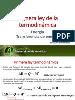 Transferencia de energía y primera ley. (1)