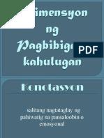 Dimensyon Sa Pagbibigay Kahulugan