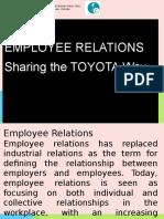 Employee Relations - The Toyota Way