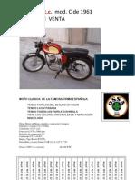 anuncio venta moto OSSA 124 C