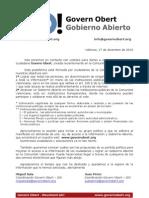 Carta de Presentación a los Partidos Políticos