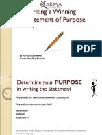 SOP writing