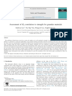 Assessment of K0 correlation to strength for granular materials
