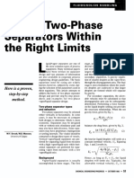 Design Two-Phase Separators Within the Right Limits v2.0
