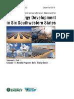 Solar DPEIS Nevada SEZs