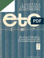 Teoría, Cálculo y Construcción de Transformadores