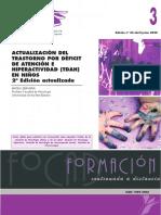 ACTUALIZACIÓN DEL TRASTORNO POR DÉFICIT DE ATENCIÓN E HIPERACTIVIDAD (TDAH) EN NIÑOS