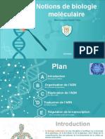 Notions de biologie moléculaire