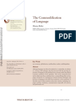 commodification of language