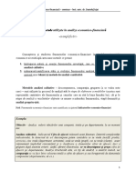 Metodologia de analiza ec-fin