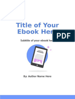 Ebook Powerpoint Template