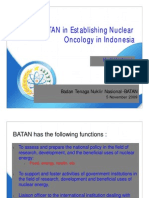 Role of BATAN in Establishing Nuclear Oncology in Indonesia