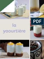 Livre de recettes yaourtière