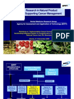 Research in Natural Product for Supporting Cancer Management