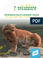 Naturpark Steinwald Jahresprogramm 2020