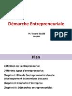 Démarche entrepreneuriale 2019 2020