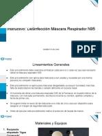 Instructivo Desinfección Máscara Respirador N95