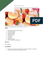 Resep Cara Membuat Donat Mini Isi Strawberry