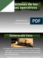 Generaciones de Los Sitemas Operativos