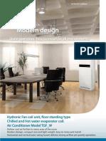 4.0 Floor standing mount hydronic TGF-W R32 18,000-36,000BTUH 5.3-10.6kW 1.5-3TR