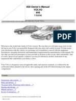Volvo 850 Owners Manual 1996