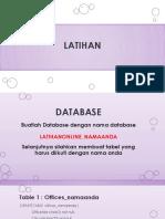 Latihan DDLDML