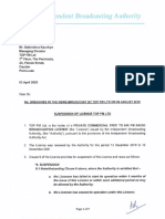 TOPFM-Suspension Letter