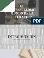 Presentación sobre el mundo maravilloso de la literatura