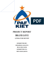 LITERATURE REVIEW - BRAND LOVE