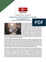 CVPI, 2020, Abril-Mayo - Impactos educación SJ en sus egresados