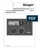 Sieger Siegercontrol S 55 A - manual (German)