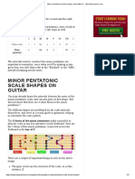 Minor Pentatonic Scale Shapes and Patterns - TheGuitarLesson.com