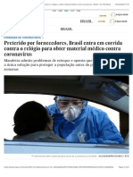 Preterido por fornecedores, Brasil entra em corrida contra o relógio para obter material médico contra coronavírus | Brasil | EL PAÍS Brasil