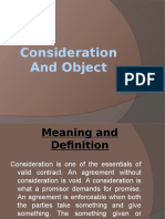 CH 3-Consideration And Object
