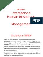 ihrm- module 1 ppt