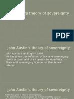 John Austin's theory of sovereignty