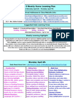 april 6 - april 9 - grade 3 weekly home learning plan