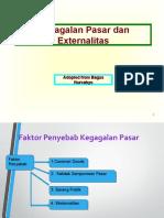 Petemuan ke 3-4 Kegagalan pasar dan Externalitas (1)