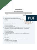 Prueba de Diagnóstico 5° Ciencias