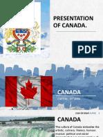 PRESENTATION OF CANADA