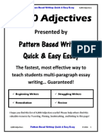 4800 Adjectives List by Pbw Quick Easy Essay 44p