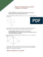 Cuál es la diferencia existente entre los grafos dirigidos y no dirigidos