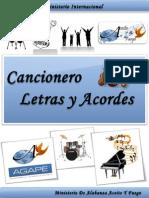 Cancionero Letras y Acordes Iglesia Agape