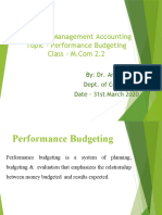 31st March Performance budgeting