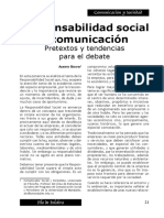 Bedoya, Alberto. Responsabilidad Social y Comunicación