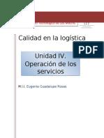 UNIDAD IV. OPERACIÓN DE LOS SERVICIOS