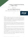 Coudenhove-Kalergi - Los vom Materialismus!