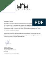Documento del Cuerpo Consular de Mendoza